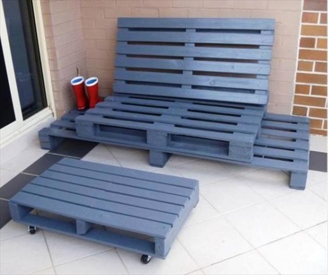 Outdoor Pallet Furniture DIY ideas and tutorials