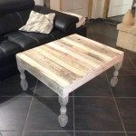 Pallet Coffee Table With Turned Legs