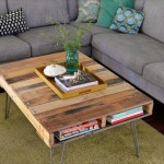 13 DIY Pallet Table Ideas with Hairpin Legs