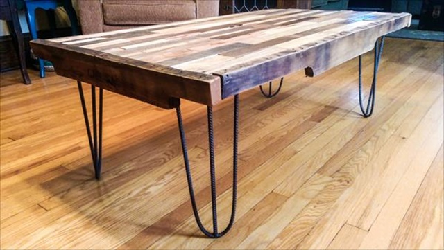 13 diy pallet tables with hairpin legs | 1001 pallet ideas