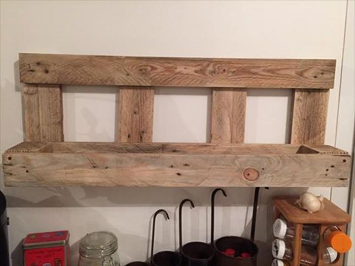 Recycled pallet kitchen storage rack