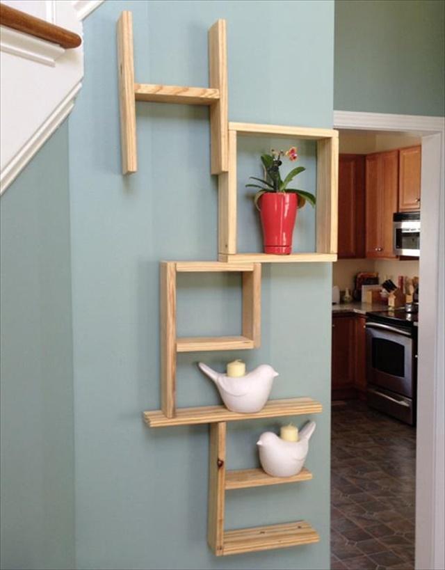 Pallet Wall Art And Shelves