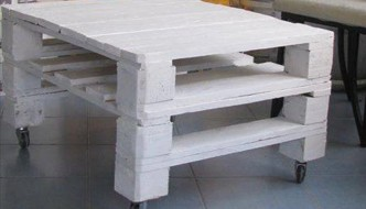 Pallet White Stained Coffee Table