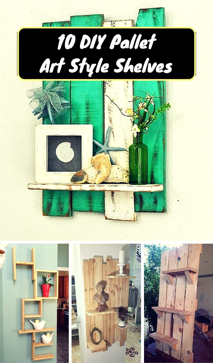 10 Diy Pallet Art Style Shelves 1001 Pallet Ideas