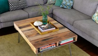 low built pallet coffee table