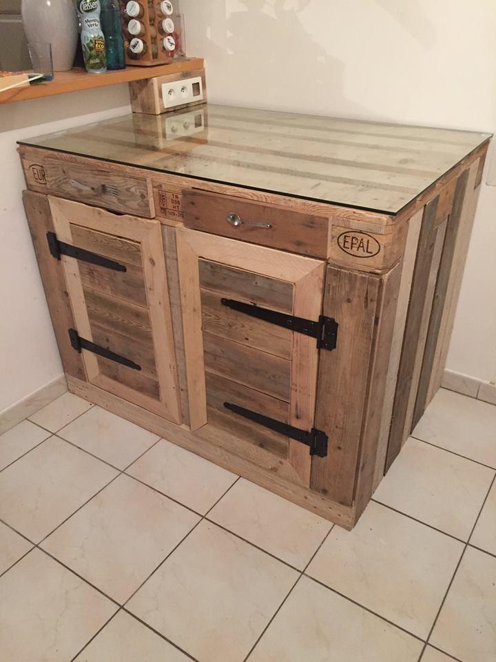 Euro Pallet Kitchen Cabinet | 1001 Pallet Ideas